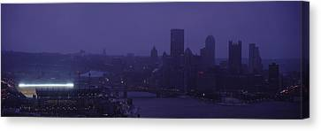 Buildings In A City, Heinz Field, Three Canvas Print by Panoramic Images