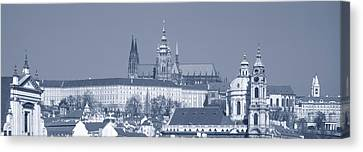 Buildings In A City, Hradcany Castle Canvas Print by Panoramic Images