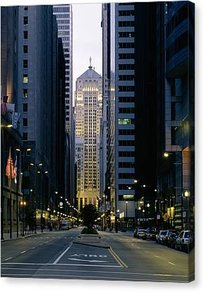 Buildings In A City, Lasalle Street Canvas Print by Panoramic Images