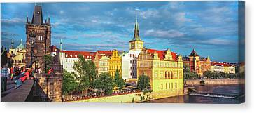 Buildings In A City, Prague, Czech Canvas Print by Panoramic Images