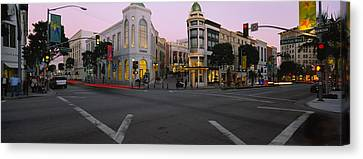 Buildings In A City, Rodeo Drive Canvas Print by Panoramic Images