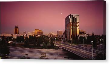 Buildings In A City, Sacramento Canvas Print