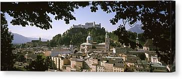 Buildings In A City, Salzburg, Austria Canvas Print by Panoramic Images