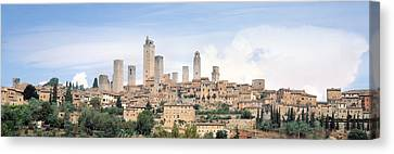 Buildings In A City, San Gimignano Canvas Print by Panoramic Images
