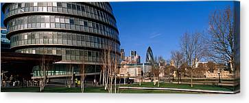 Buildings In A City, Sir Norman Foster Canvas Print by Panoramic Images