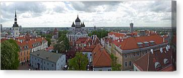 Buildings In A City, St. Nicholas Canvas Print by Panoramic Images