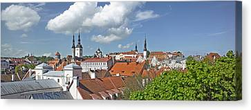 Buildings In A City, St Olafs Church Canvas Print by Panoramic Images