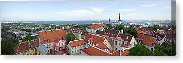 Buildings In A City, Tallinn, Estonia Canvas Print by Panoramic Images