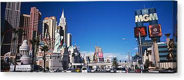 Buildings In A City, The Strip, Las Canvas Print