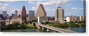 Frost Tower Canvas Print - Buildings In A City, Town Lake, Austin by Panoramic Images