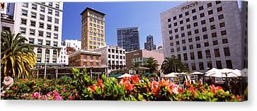 Buildings In A City, Union Square, San Canvas Print by Panoramic Images
