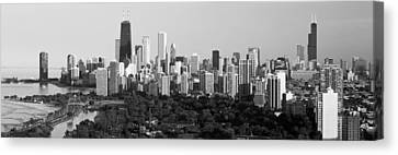 Built Canvas Print - Buildings In A City, View Of Hancock by Panoramic Images