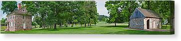 Buildings In A Farm, Washingtons Canvas Print by Panoramic Images