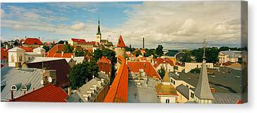 Buildings In A Town, Tallinn, Estonia Canvas Print by Panoramic Images