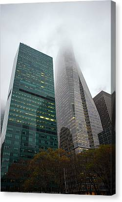 Buildings In Bryant Square Ny Canvas Print by Denise Thompson
