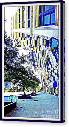 Buildings In Flux Canvas Print by Scott Dixon