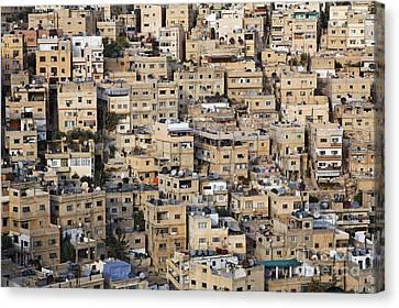 Buildings In The City Of Amman Jordan Canvas Print by Robert Preston