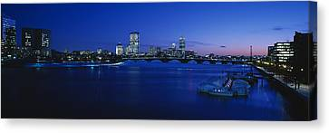 Boston Bridges Canvas Print - Buildings Lit Up At Dusk, Charles by Panoramic Images