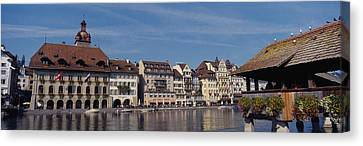 Buildings On The Waterfront, Lucerne Canvas Print by Panoramic Images