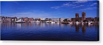 Oslo Canvas Print - Buildings On The Waterfront, Oslo by Panoramic Images