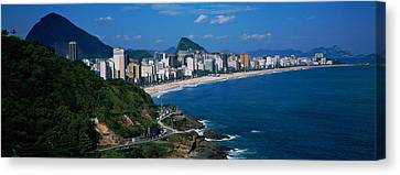 Buildings On The Waterfront, Rio De Canvas Print