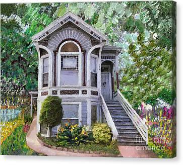 Alameda 1895 Queen Anne Canvas Print by Linda Weinstock