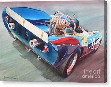 Built To Race Canvas Print by Robert Hooper