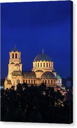 Bulgaria, Sofia, Ploshtad Alexander Canvas Print by Walter Bibikow