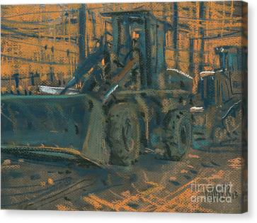 Bull Dozer Canvas Print by Donald Maier