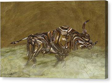 Bull Canvas Print by Jack Zulli