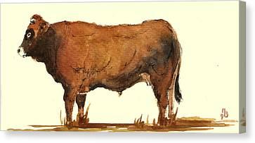 Bull Canvas Print by Juan  Bosco