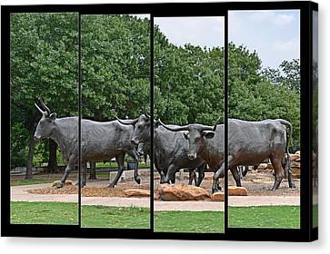 Bull Market Quadriptych Canvas Print by Christine Till