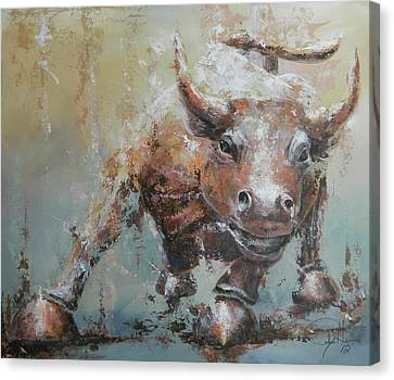 Animal Abstract Canvas Print - Bull Market Y by John Henne