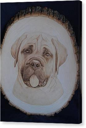 Bull Mastiff Canvas Print by Oksana Rahbari