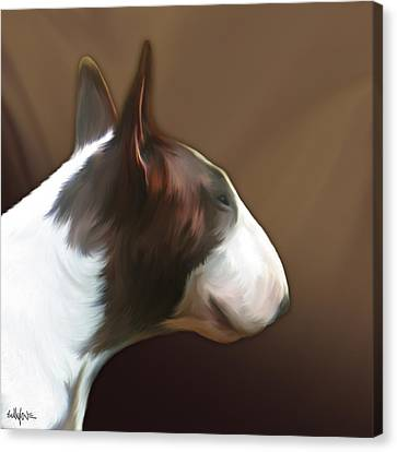 Bull Terrier By Bullylove Canvas Print by Bullylove DE