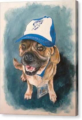 Bulldog Canvas Print by Almeta LENNON