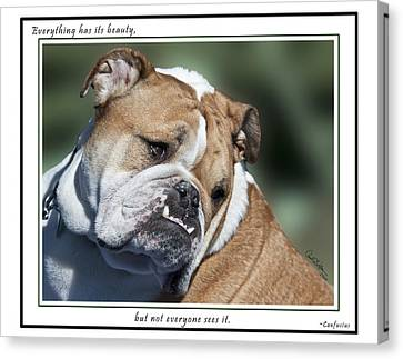 Bulldog Beauty Canvas Print