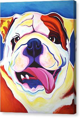 Bulldog - Grin Canvas Print by Alicia VanNoy Call