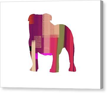 Bulldog Canvas Print by Naxart Studio