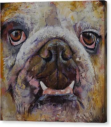 Bulldog Canvas Print by Michael Creese