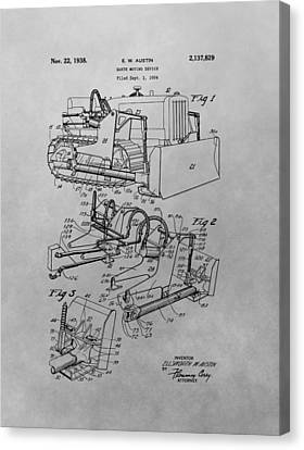 Bulldozer Patent Drawing Canvas Print