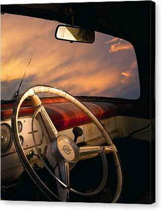 Bullet Hole Canvas Print by William Schmid