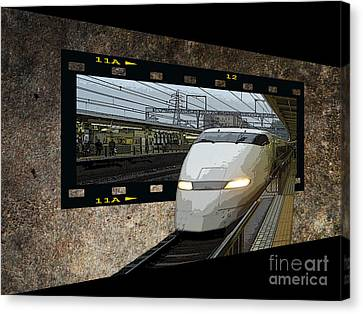 Bullet Train Oof Canvas Print by Yvonne Johnstone