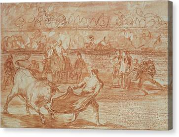 Bullfighting Canvas Print by Goya