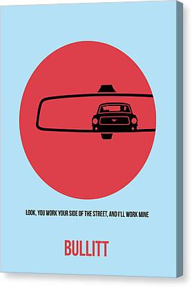 Ford Mustang Canvas Print - Bullitt Poster 1 by Naxart Studio