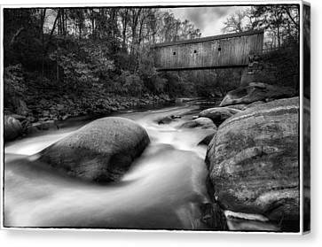 Bulls Bridge And The Housatonic Rapids   Canvas Print by Thomas Schoeller