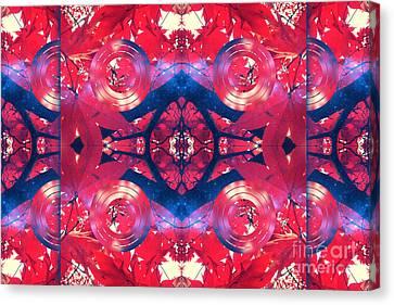 Bulls Eye Autumn Leaves Canvas Print by Beverly Claire Kaiya