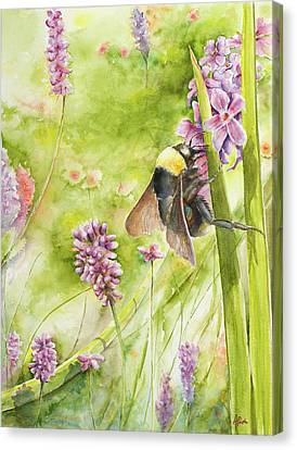Canvas Print featuring the painting Bumble by Arthur Fix