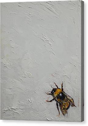 Bumblebee Canvas Print by Michael Creese