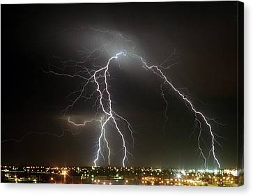 Bunbury Lightning Canvas Print